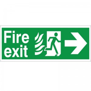 Fire Exit - Right Arrow - Healthcare Establishment Health and Safety Sign (HM.03)