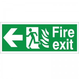 Fire Exit - Left Arrow - Healthcare Establishment Health and Safety Sign (HM.04)