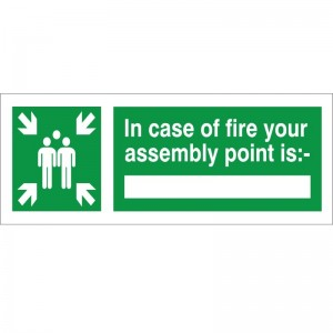 In Case Of Fire Your Assembly Point - Health and Safety Sign