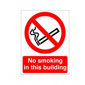 No Smoking In This Building - Health and Safety Sign (PRS.06)