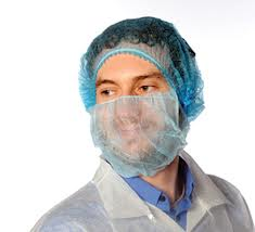 Cater Safe Disposable Beard Mask - Blue