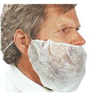 White Cater Safe Disposable Beard Mask - Safety Services Direct