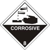 Corrosive Warning Label (CO55G)