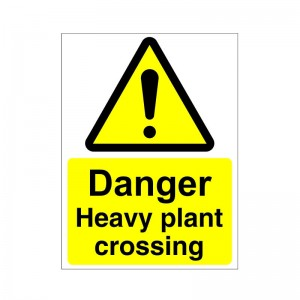 Danger Heavy Plant Crossing - Health and Safety Sign (WAC.20)