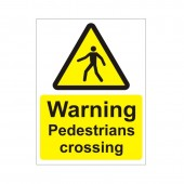 Warning Pedestrians Crossing - Health and Safety Sign (WAC.26)
