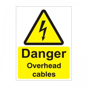 Danger Overhead Cables - Health and Safety Sign (WAE.36)