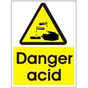 Danger Acid - Health and Safety Sign (WAG.55W)