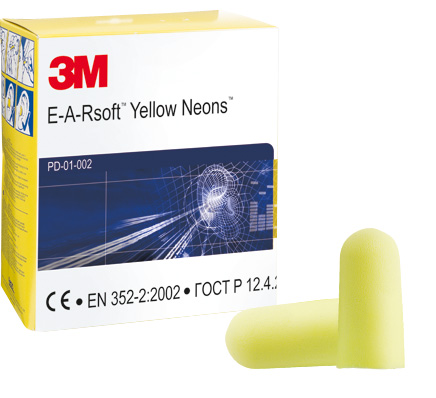 3M EARsoft Neons Foam Ear Plugs (250 Pairs)