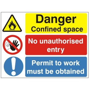 Danger Confined Space - Health and Safety Sign (MUL.81)