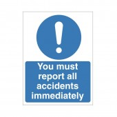 You Must Report All Incidents Immediately - Health and Safety Sign (MAG.01)