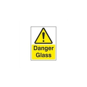Danger Glass - Health and Safety Sign (WAG.39)