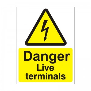 Danger Live Terminals - Health and Safety Sign (WAE.13)