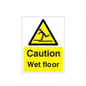 Caution Wet Floor - Health and Safety Sign (WAG.93)