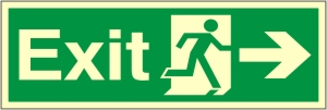 Exit Arrow Right - Fire Safety Sign (EX.40)