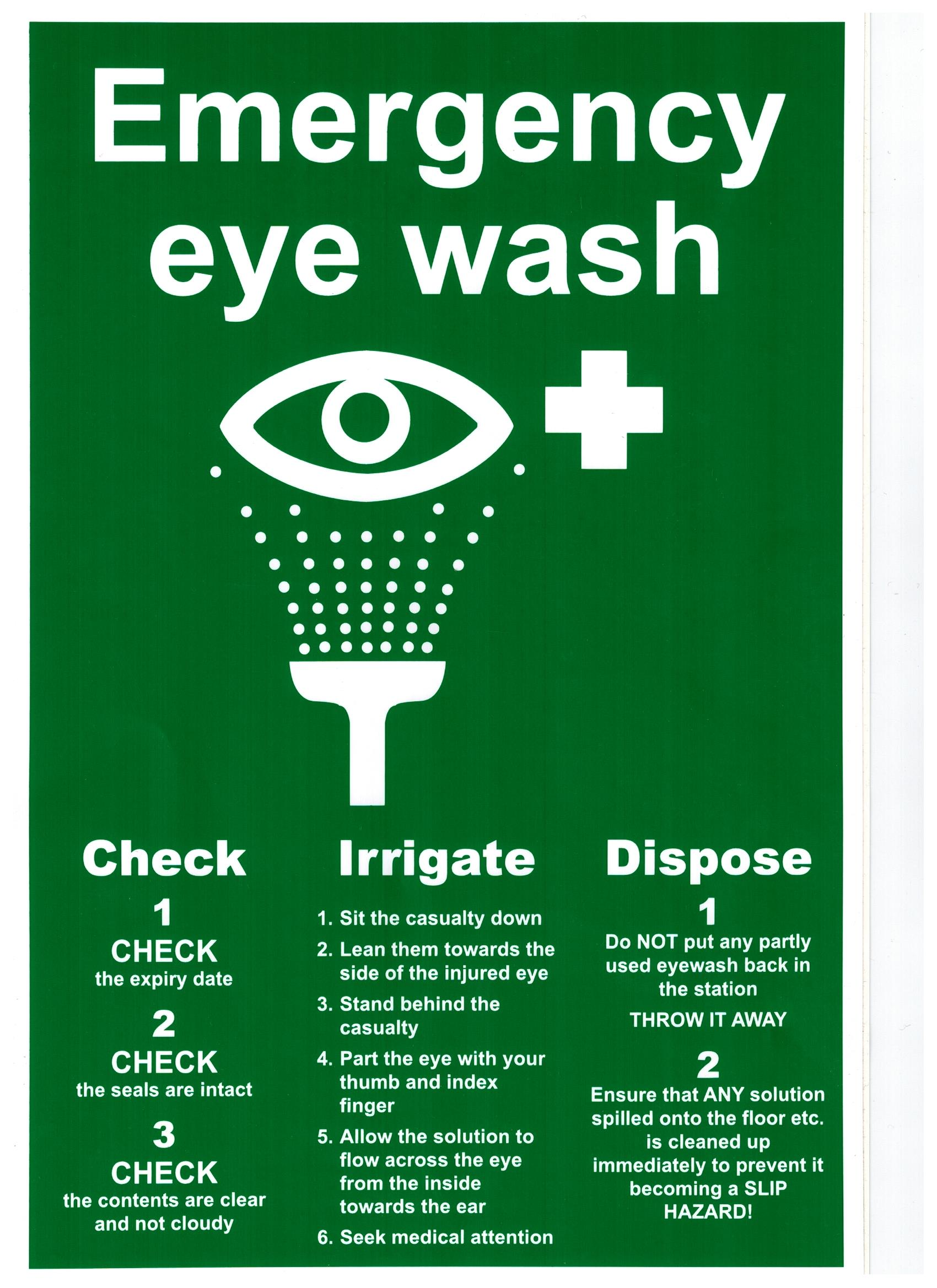 Eye Wash Health And Safety Sign Safety Services Direct
