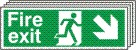 Fire Exit Right Down Arrow - Fire Safety Sign (FE.07)