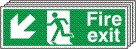 Fire Exit Arrow Down Left - Fire Safety Sign (FE.08)