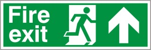 Fire Exit Arrow Up - Fire Safety Sign (FE.05)