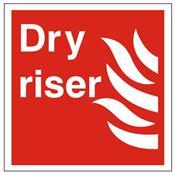 Dry Riser Sign - Health & Safety Sign (FEX.12v)