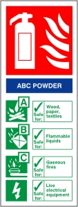ABC Powder Fire Extinguisher - Health & Safety Sign (FI.08)