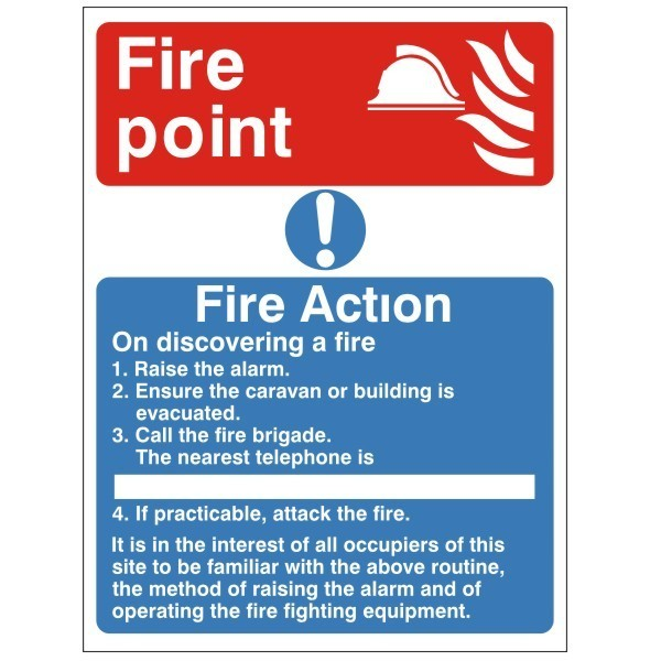 Fire Point Fire Health And Safety Sign Act 10 For