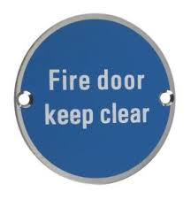 Fire Door Keep Clear (ARC.69)