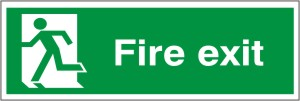 Fire Exit - Fire Safety Sign (FE.15)