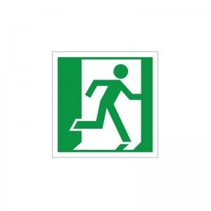 Fire Exit Symbol - Double Sided Health and Safety Sign