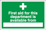 FIRST AID SIGN - HEALTH & SAFETY SIGN (FA.16)