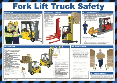 Fork Lift Truck Poster | Safety Services Direct
