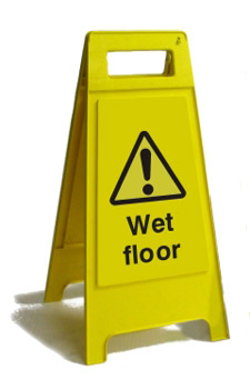 Caution Wet Floor - Health and Safety Sign (FS3.01)