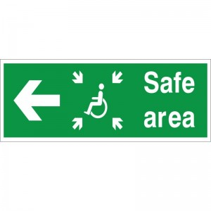 Safe Exit - Refuge - Left Arrow - Health and Safety Sign (FER.06)