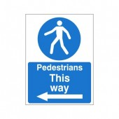 Pedestrians This Way (Left Arrow) - Health and Safety Sign (MAC.11)