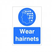 Wear Hairnets - Health and Safety Sign (MAP.36)