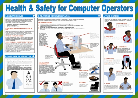 Health and Safety For Computer Operators Poster