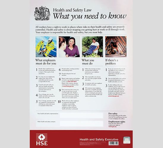 Health and Safety Law Posters | Safety Services Direct