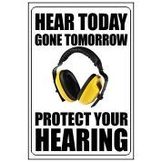 Hear Today Gone Tomorrow - Funny Health & Safety Sign (JOKE037) 200x300mm