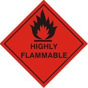 Highly Flammable Warning Label (HF21G)
