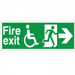 Fire Exit - Refuge - Right Arrow - Health and Safety Sign