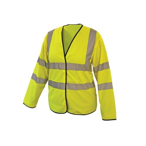 High Visibility Sleeved Waistcoat - Yellow