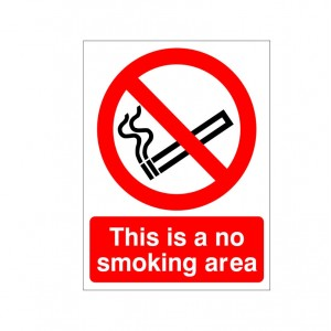 This Is A No Smoking Area - Health and Safety Sign (PRS.01) - We have one of the most extensive ranges of health and safety signs online, coupled with some of the BEST prices!