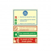 Fire Action - Fire Health and Safety Sign (ACT.04)