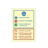 Fire Action - Fire Health and Safety Sign (ACT.11)