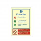 Fire Action - Fire Health and Safety Sign (ACT.18)