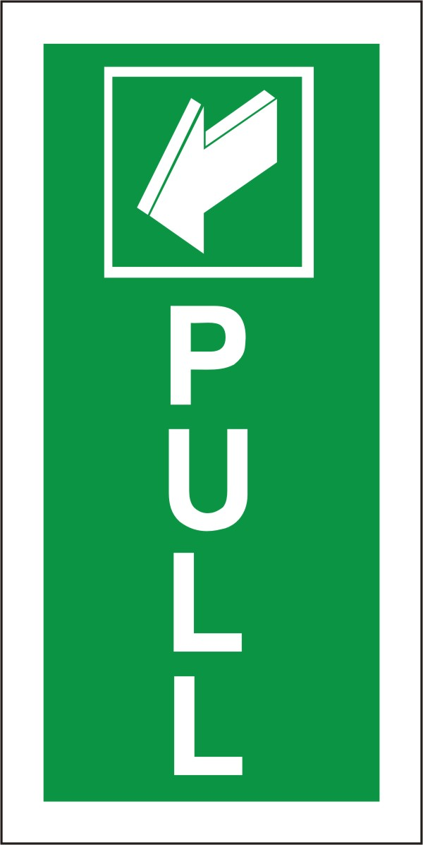 Pull Over Sign : Pull fire exit health and safety sign fed ultra