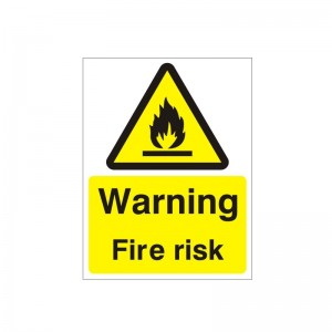 Warning Fire Risk - Health and Safety Sign (WAG.95)