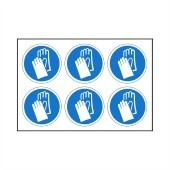 Hand Protection Must Be Worn- Pack of 24 - Health and Safety Sign (MAN.121)