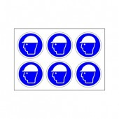 Safety Helmets Must Be Worn - Pack of 24 - Health and Safety Sign (MAN.124)