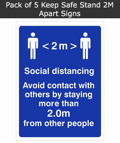 Keep 2m Apart Social Distancing Sign
