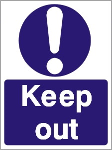 Keep Out - Health and Safety Sign (MAA.05)